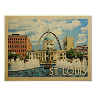 Saint Louis Vintage Travel Poster