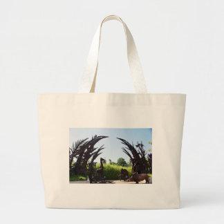 Saint Louis Zoo Sculpture Large Tote Bag