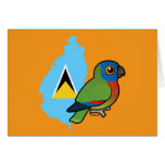 Saint Lucia Amazon Flag Greeting Card
