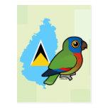 Saint Lucia Amazon Flag Post Cards