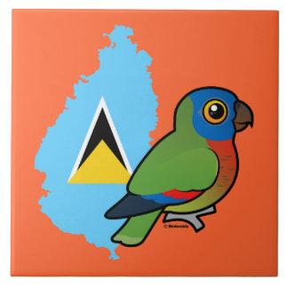 Saint Lucia Amazon Flag Tile