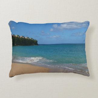 Saint Lucia Beach Tropical Vacation Landscape Accent Pillow