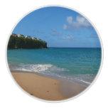Saint Lucia Beach Tropical Vacation Landscape Ceramic Knob