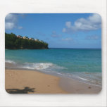 Saint Lucia Beach Tropical Vacation Landscape Mouse Pad
