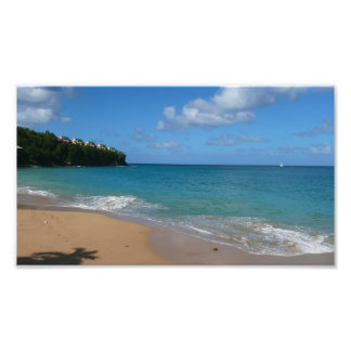 Saint Lucia Beach Tropical Vacation Landscape Photo Print