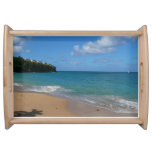 Saint Lucia Beach Tropical Vacation Landscape Serving Tray