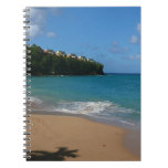 Saint Lucia Beach Tropical Vacation Landscape Spiral Notebook
