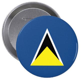 Saint Lucia Pinback Buttons