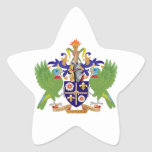 Saint Lucia Coat of Arms Star Stickers