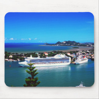 Saint Lucia, cruise ship Mouse Pad