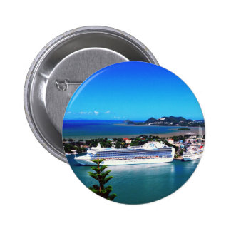 Saint Lucia, cruise ship Pinback Button