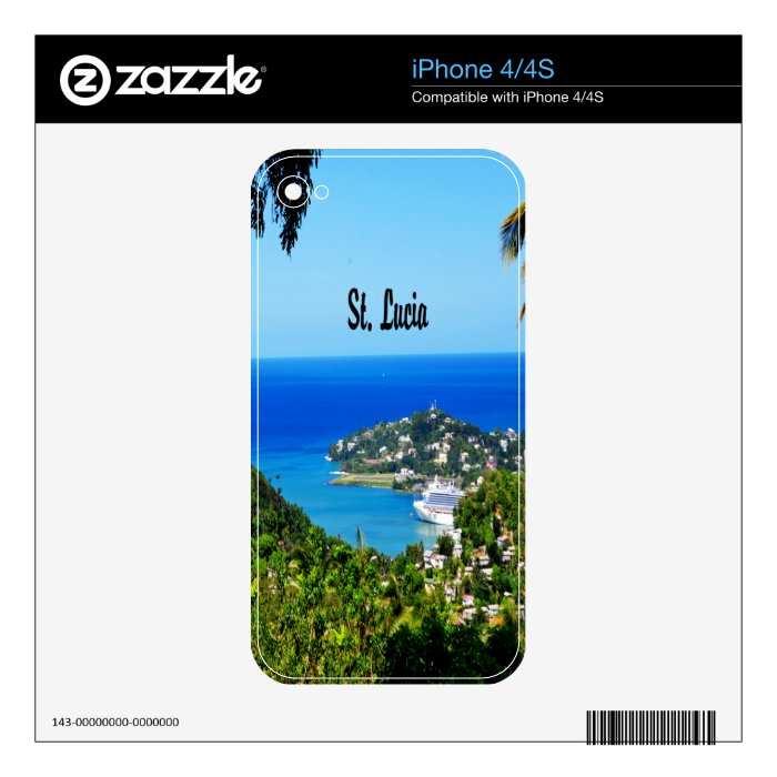 Saint Lucia Decals For The iPhone 4