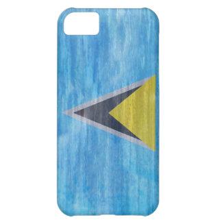 Saint Lucia distressed flag Case For iPhone 5C