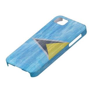 Saint Lucia distressed flag iPhone SE/5/5s Case