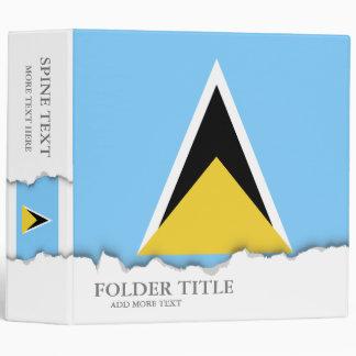 Saint Lucia Flag 3 Ring Binder