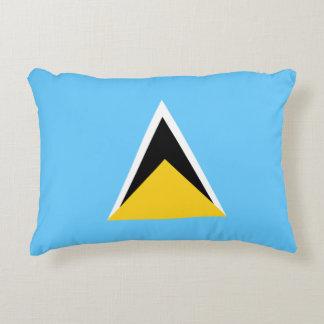 Saint Lucia Flag Accent Pillow