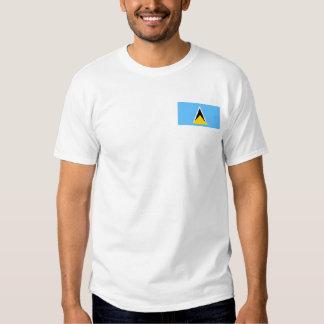 Saint Lucia Flag and Map T-Shirt