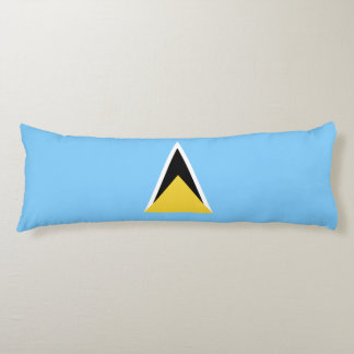 Saint Lucia Flag Body Pillow