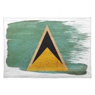 Saint Lucia Flag Cloth Placemat