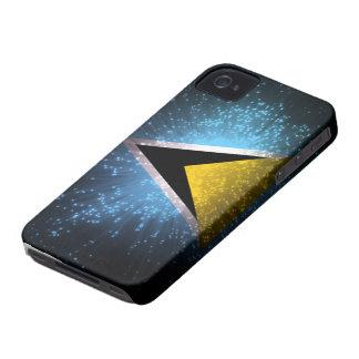 Saint Lucia Flag Firework Case-Mate iPhone 4 Case
