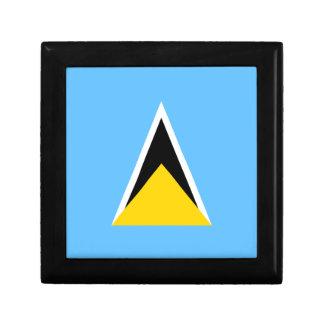 Saint Lucia Flag Gift Box