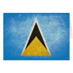 Saint Lucia Flag Greeting Card