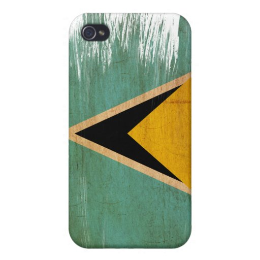 Saint Lucia Flag iPhone 4/4S Case