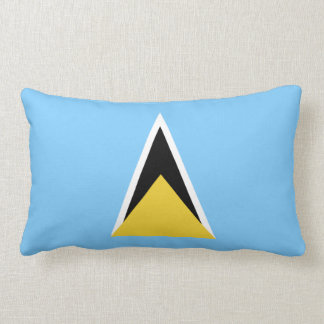 Saint Lucia Flag Lumbar Pillow
