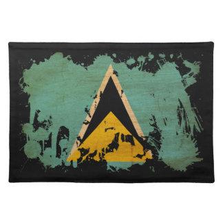 Saint Lucia Flag Placemat