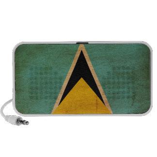 Saint Lucia Flag Portable Speaker