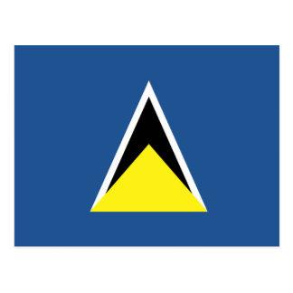 Saint Lucia Flag Post Card