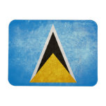 Saint Lucia Flag Rectangle Magnets