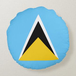 Saint Lucia Flag Round Pillow