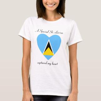 Saint Lucia Flag Sweetheart T-Shirt
