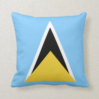 Saint Lucia Flag Throw Pillow