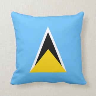 Saint Lucia Flag x Flag Pillow