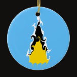 Saint Lucia Gnarly Flag Ceramic Ornament
