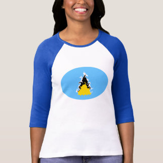 Saint Lucia Gnarly Flag T-Shirt