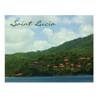 Saint Lucia Hillside Village Post Cards