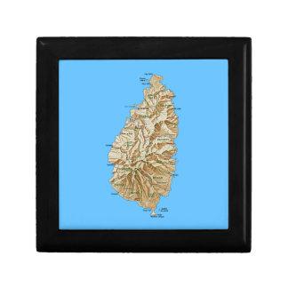 Saint Lucia Map Gift Box