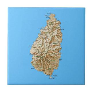 Saint Lucia Map Tile
