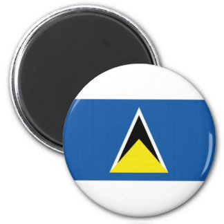 Saint Lucia National Flag Magnet