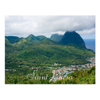 Saint Lucia, pitons from Soufriere Postcard
