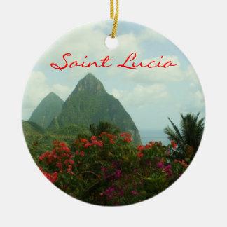 Saint Lucia Pitons Ornament
