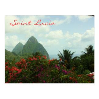 Saint Lucia Pitons Postcard