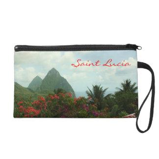 Saint Lucia Pitons Wristlet