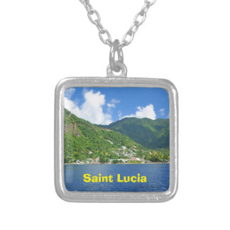 Saint Lucia Silver Plated Necklace