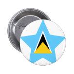 Saint+Lucia Star Button