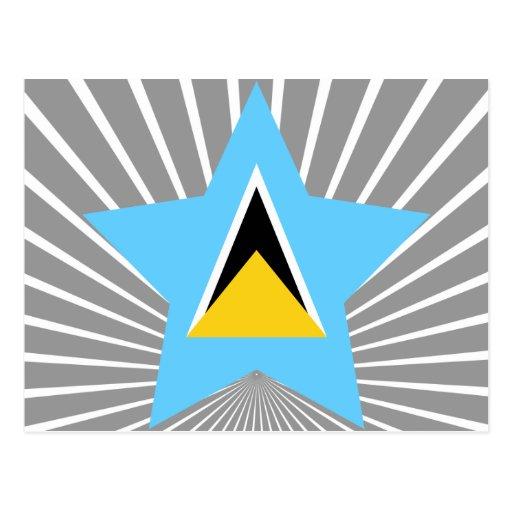 Saint+Lucia Star Postcard