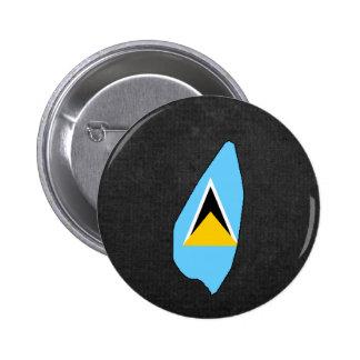 Saint Lucian Trip Souvenir Button